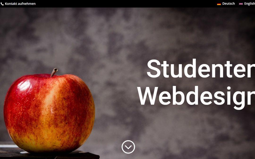 Homepage erstellen lassen vom Studenten